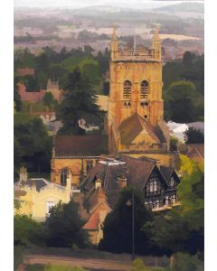 Malvern Priory from the Hills - Limited Edition print of only 10