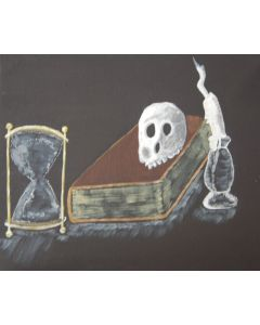 Book and Skull