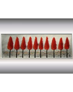 Herbstwald - Acrylic painting, abstract art, trees painting