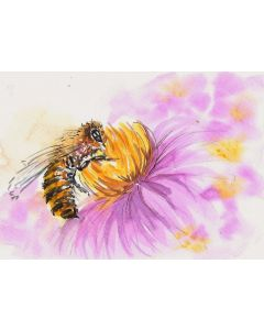 """The bumblebee on a flower The honey bee """"To bee or not to bee"""""""