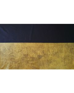 How deep is your love- XXL golden and black abstract