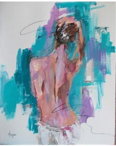 Helectra - Woman painting on paper