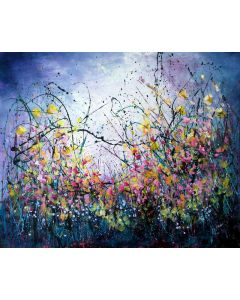 Dream On - Super sized original floral painting