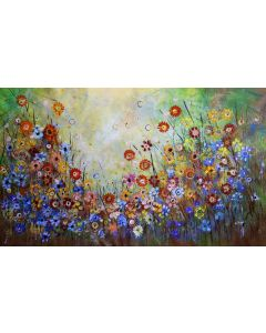 Indian Summers #1 - Large original floral painting