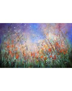 Fairy Tales - Large original floral painting