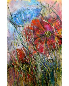 Summer Wine - Large original floral painting