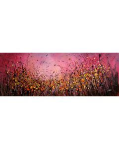 When The Night Falls #5 - Large original floral landscape