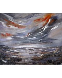 Stormy sky over an Abstract Seascape