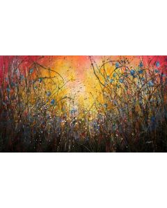 Chaotic Beauty - Extra large original floral painting