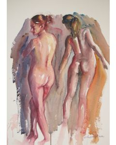 Standing female nudes