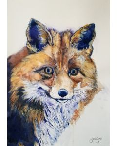 Mr Fox ( watercolour )
