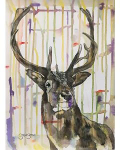 Colourful Stripy Stag