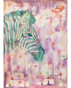 Green Zebra Watercolour