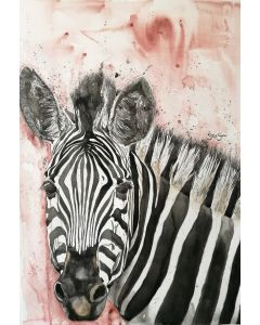 Shine Bright My Stripy Friend. Zebra Watercolour. Free Worldwide Shipping