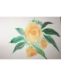watercolour yellow roses