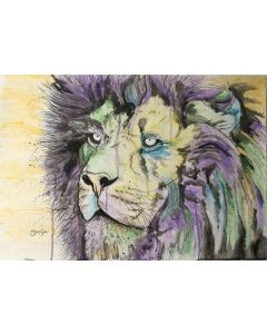 Liquid Lion. Watercolour Painting.