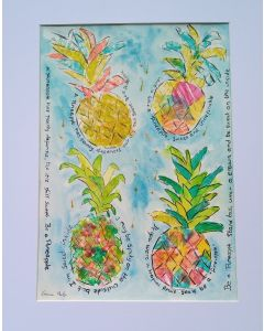Colourful, Funky Pineapples