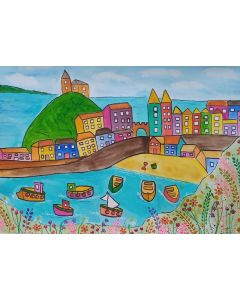 Colourful View of Tenby, Pembrokeshire