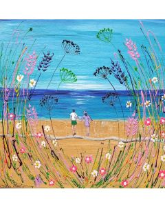 Bold Flowers and Romance by the Sea