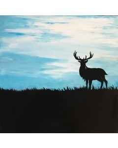 Deer and Stag Diptych