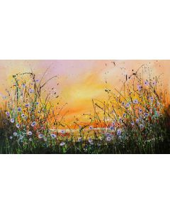The Sea Of Tranquility - Large original floral painting