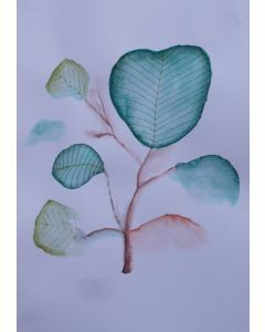 Green Leaves Watercolour