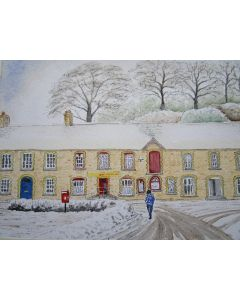 Snowy day in Pontsian village, Ceredigion