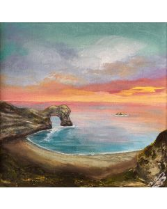 Orange Sunset over Durdle Door