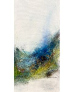 LANDSCAPE I 60 X 30 CM I NATURAL ABSTRACT ARTWORK I READY TO HANG