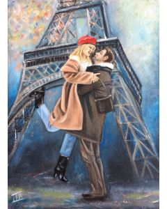 First kiss in Paris