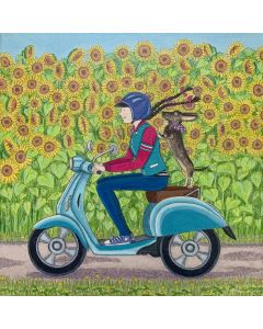 A ride through the sunflower fields with Monty