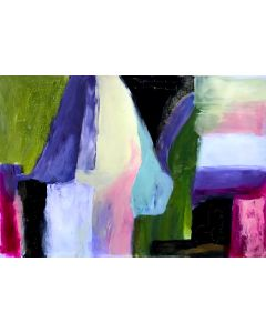 Abstract Love Letters On Card