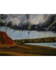 Ginger cow. Oil on paper