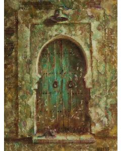 Old door and mouse.
