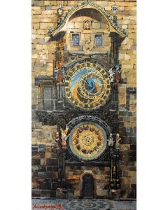 Old clock of the city of Prague.