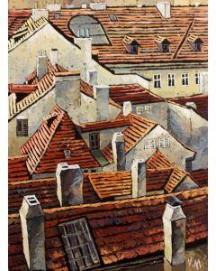 Roofs of old Prague