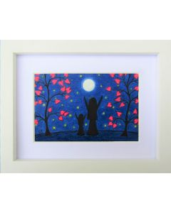 Mother, Daughter, Moon and Stars (Framed)