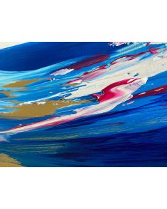 Abstract Seascape on Gold Leaf