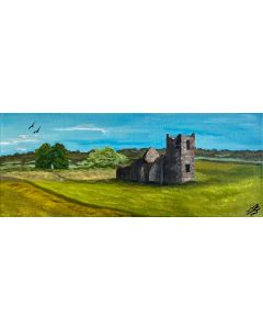 Knolton Henge on a Panoramic Canvas
