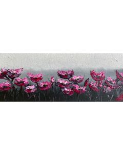 Abstract Poppies on a Panoramic Canvas