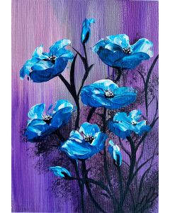 A Cluster of Blue Poppies