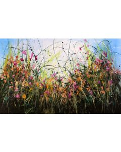 Only Seconds Away #1 - Large original floral painting