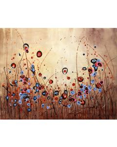 Moody Days - Large original floral painting