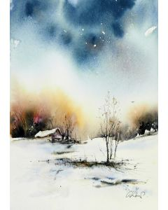 Somewhere Inetween. Original watercolour painting.