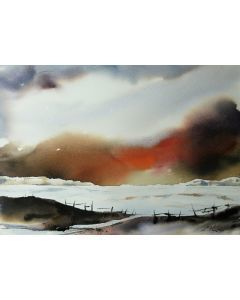 Inlet, Original Watercolour Painting.