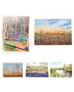 Five Mixed landscape greeting Cards