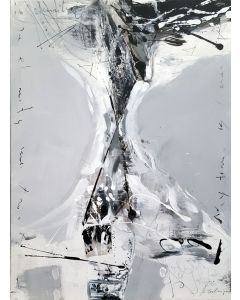 Black And White Spontaneous Gestural Still Life By O KLOSKA