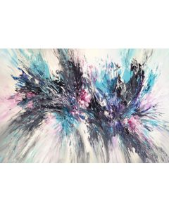 Lavender Turquoise Abstraction XL 1