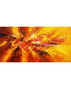 Yellow Red Abstraction XXL 1
