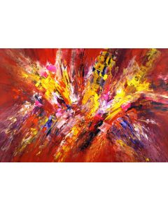 Red And Yellow Abstraction XL 2